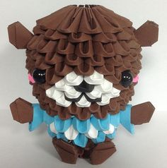 Etsy の 3D Origami brown bear kit by 3Dorigamidreambank