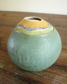 Topographical Vase coil built ceramic pot by LoriPhillipsCeramics, via Flickr