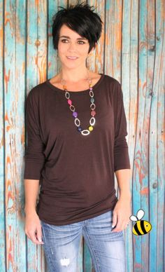 Fabulous 3/4 Sleeve Long Dolman Tunic! | Jane