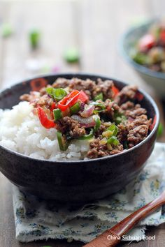 I swear this was the best dish moms made growing up. I grew up on it and now my kids too :) Asian Ground Beef Rice Bowl