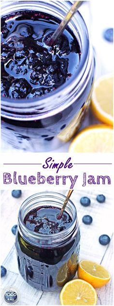 Simple Blueberry Jam – no pectin, just 3 ingredients! Fab Food 4 All Simple Blueberry Jam – no pectin, ,just 3 ingredients! Fab Food 4 All Jelly Recipes, Fruit Recipes, Brunch Recipes, Dessert Recipes, Desserts, Drink Recipes, Vegan Recipes, Recipies, Jam And Jelly
