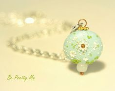 Little Serenity. Unique Polymer Clay Necklace Pendant. Beautiful gift for someone special