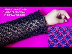 Cómo Tejer el Punto Salomón a Crochet / Tutoriales | Crochet y Dos agujas - Patrones de tejido