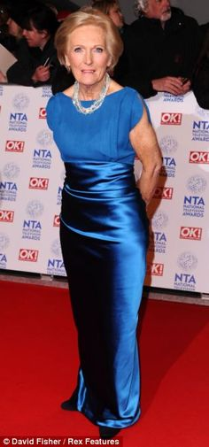 Mary Berry shone in blue on the red carpet at the National Television Awards