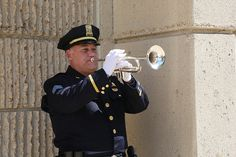 Kansas City Missouri Police Department Memorial Service...Reserved Sergeant Dwight Rhodes played the trumpet