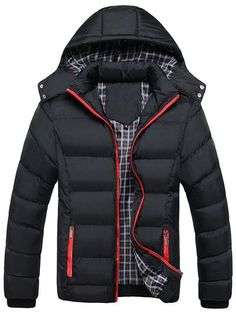 Macondoo Mens Quilted Vogue Slim Fit Cotton-Padded Warm Jacket Parkas Coats