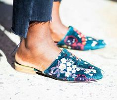 27 Backless Slides (or Flat Mules) to Buy This Spring - PureWow Fashion Flats, Denim Fashion, Women's Fashion, Street Fashion, Fashion Trends, Penelope, Denim Trends, Who What Wear, American
