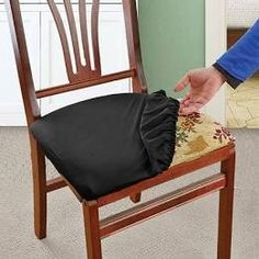 Tutorial: Quick & Easy Drawstring Seat Covers for Outdoor Furniture Kitchen Chair Cushions, Dining Chair Seat Covers, Chair Back Covers, Chair Cushion Covers, Dining Room Chair Covers, Dining Chair Slipcovers, Upholstered Chairs, Dining Room Chairs, Office Chairs