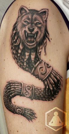 The Dacian Wolf / Dracon Baby Tattoos, Wolf Tattoos, Tatoos, Cool Chest Tattoos, Small Tattoos, Wolf Tattoo Design, Tattoo Designs, Vampire Tattoo, Dragon Wolf