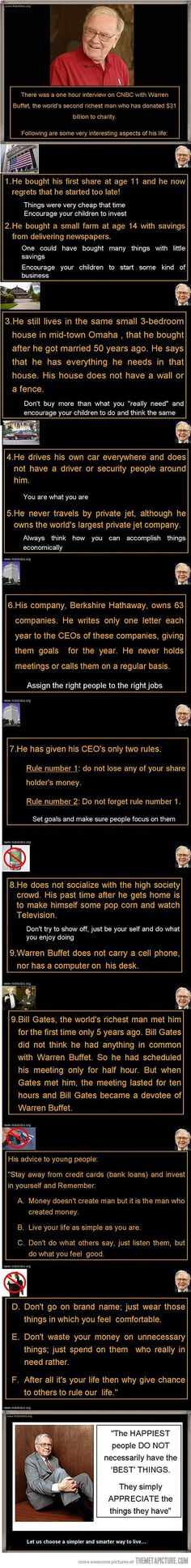 2nd richest man in the world...slightly shocking. but people need to live like him.