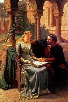 LEIGHTON, Lord Frederic English Classicist Painter and Sculptor (1830-1896)_Abelard and his Pupil Heloise (1882)