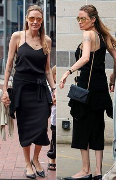 Our signature cami is everyone's favorite wardrobe builder. Angelina Jolie in the Tibi Silk Cami.