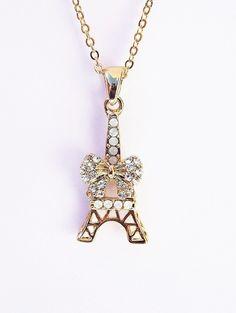 Colar Torre Eiffel Lacinho