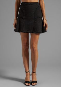 Need this silhouette for fall. Rebecca Taylor Tweed Flounce Skirt.: