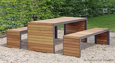 Modern picnic table by Westeifel Werke #contemporary