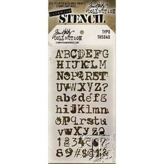 Tim Holtz Layering Stencil TYPO THS040 Preview Image