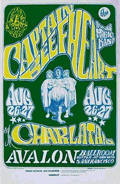Avalon Ballroom: Captain Beefheart & His Magic Band - The Charlatans