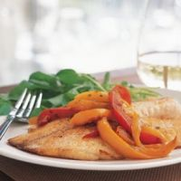 Talapia With Sweet Peppers Recipe