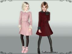 Coat 01 by Sakura Sims - Sims 3 Downloads CC Caboodle