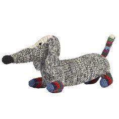 Crochet Dachshund - Stripy D | ella+elliot | Toronto | Vancouver | Canada | ellaandelliot.com