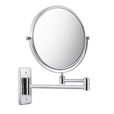 iGarden 8 Inch Swivel Wall Mounted Makeup Mirror,Square Base,360 degree,13.5-Inch Extension, Chrome * Read more reviews of the product by visiting the link on the image. (This is an affiliate link and I receive a commission for the sales)