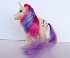 Vintage G1 My Little Pony Greek Moondancer Unicorn Star MLP by EL GRECO
