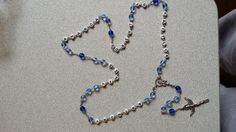 Blessed Mother BLUE ROSARY with names of loved ones (#'s 505/504)