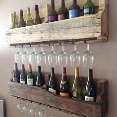 Reclaimed wine rack- stacked
