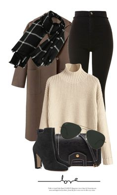 A fashion look from November 2017 by monmondefou featuring Topshop and Ray-Ban Winter Fashion Outfits, Look Fashion, Winter Outfits, Womens Fashion, 90s Fashion, Elegantes Outfit Mit Jeans, Cute Casual Outfits, Stylish Outfits, Winter Mode