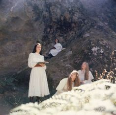 Still from the iconic film Picnic at Hanging Rock - inspiration for our Spring photo shoot in the raw and wild landscape of eastern…