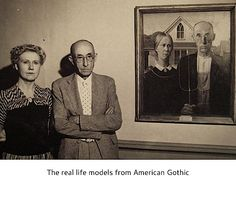 Real life models from American Gothic