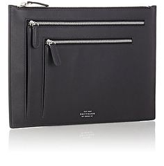 Smythson Atlas Travel Pouch - Small Leather - 504259845