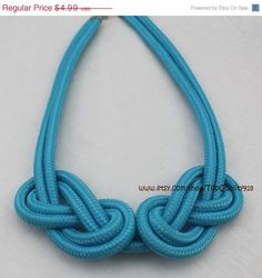 hothotsale statement necklace cord necklace woven by TopQuality918, $4.49