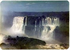 Iguacu Falls Iguassu Brasil Brazil 1976 Photograph Scan Waterfall