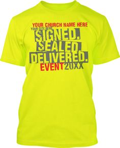 Sign Sealed Delivered Youth Customizable Group T Shirt Design
