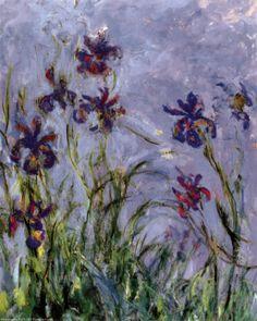 Irises Art Print, Monet
