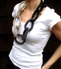 Crochet Wool Necklace