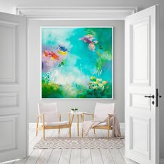 Green Colorful Abstract expressionist fine art print, Large wall art, Abstract painting green and pink Painting Prints, Wall Art Prints, Fine Art Prints, Art Paintings, Teal Wall Art, Large Canvas Wall Art, Modern Wall Art, Etsy, Abstract Art