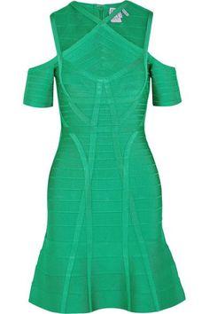 Hervé Léger - Cutout Bandage Dress - Green -