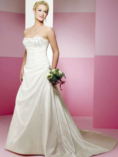 A-Line With Lace-Up Closure on Back Wedding Dress