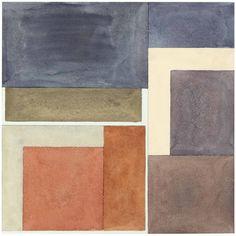 "herzogtum-sachsen-weissenfels: ""David Novros (American, b. 1941), Untitled, 1970. Watercolor and graphite on paper, image: 23.8 x 23.8 cm.; sheet: 25.4 x 26 cm. """