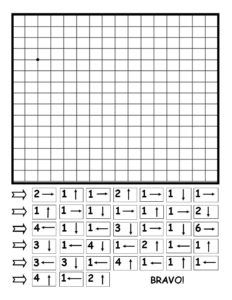 Desenează după indicații - Ren Fun Worksheets For Kids, Mazes For Kids, Preschool Learning, Teaching Math, Visual Perception Activities, Basic Programming, Abstract Coloring Pages, Coding For Kids, Kids Study