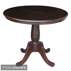 Round 36-inch Pedestal Table with 12-inch Leaf | Overstock.com Shopping - The Best Deals on Dining Tables