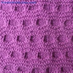 Knitting Stitch Patterns -- Slipped Stitches-- Folds