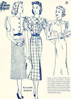Lutterloh 1938 Book Of Cards -  Models Card 21