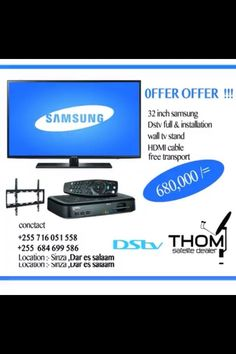 Offer dstv installation stand tv and 32 inch tv Samsung full installation call for info free channel and other 07160525558