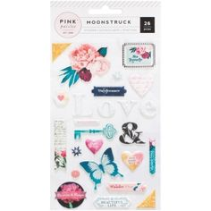 PINK PAISLEE - Puffy Stickers - MOONSTRUCK