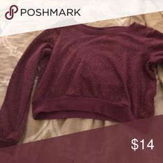 Long sleeve purple crop top Cotton material crop top. Never worn. Wet Seal Tops Tees - Long Sleeve