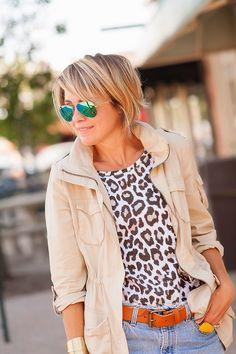 Chico's Cheetah Charm Shirttail Top featured on s e e r s u c k e r + s a d d l e s