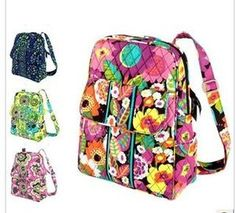 NWTag Vera Bradley Small Backpack in Limes Up Indigo Pop VA VA Blooms Holiday   eBay